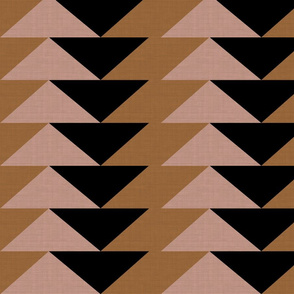 Blush Brown Triangles