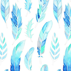 Blue Feathers - larger scale