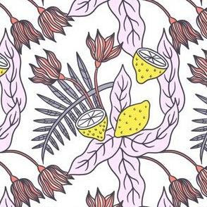 Tropical Lemon Pattern