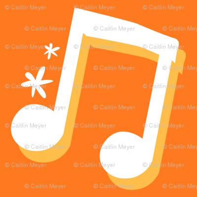 Orange Music Notes