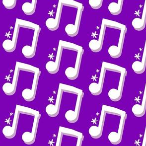 Dark Purple Music Notes