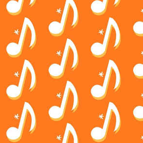 Orange Eighth Note