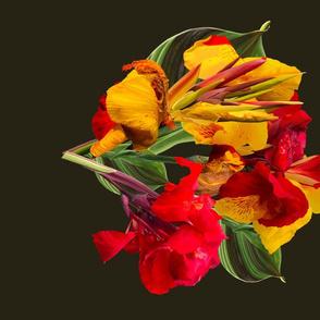 Tropical Bouquet Madallion-Dk.Green