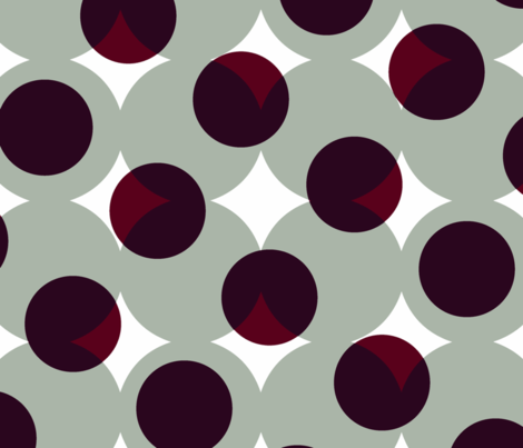 enormous halftone dots - burgundy on cool grey fabric by weavingmajor on Spoonflower - custom fabric