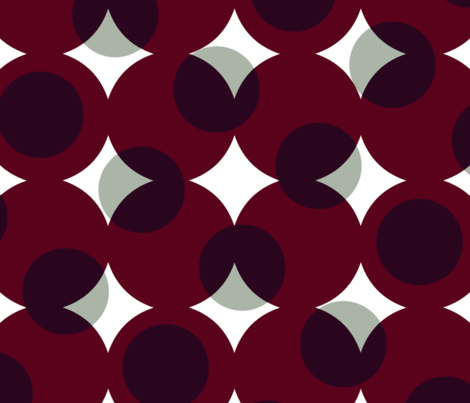 enormous halftone dots - white and grey on burgundy fabric by weavingmajor on Spoonflower - custom fabric