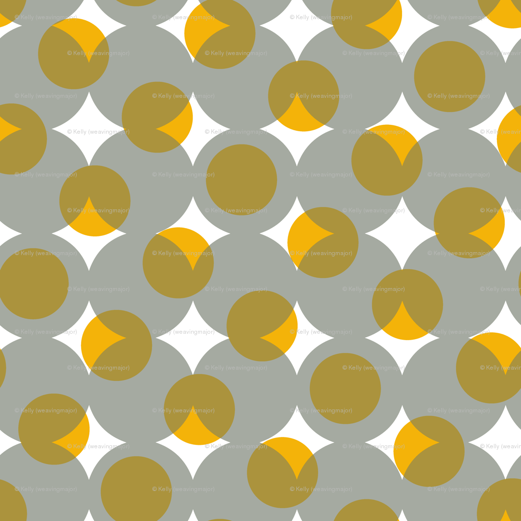 enormous halftone dots - grey, gold, bronze and white wallpaper