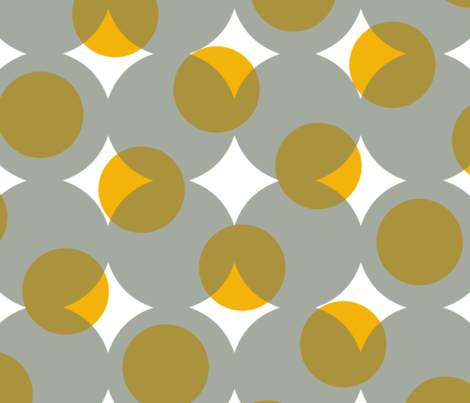 enormous halftone dots - grey, gold, bronze and white