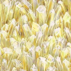 Citrine Quartz Crystal Field