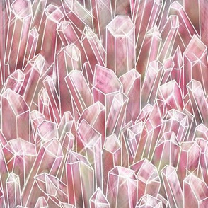 Rose Quartz Crystal Field