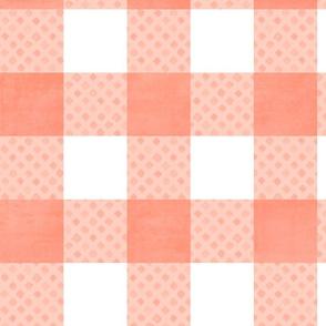 gingham: peachy diamond
