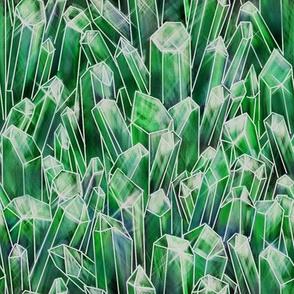 Emerald Quartz Crystal Field