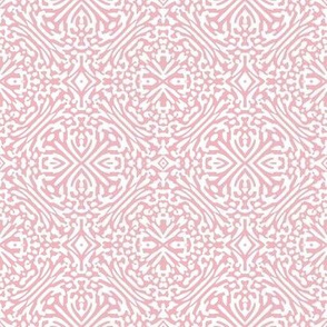 2010s rosette - millennial pink and white