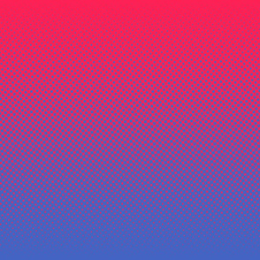 blue and bright pink one-yard gradient
