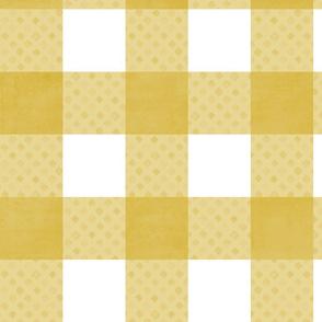 gingham: gold diamond
