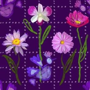 Bohemian Love Birds - Purple