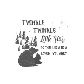 """10""""x32"""" space with 8"""" illustration / Twinkle Twinkle Quote"""