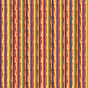 Inky ZigZagged  Edged Stripes