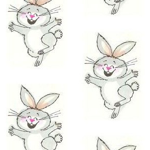 Happy bunny white out