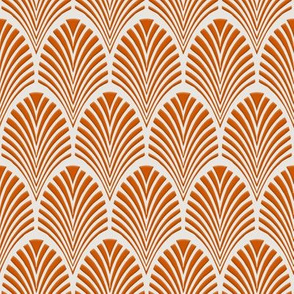 Deco Pattern burnt orange