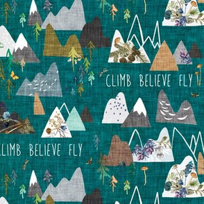 Mountain Climb (teal) SML