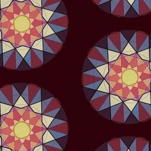 Glowing Geometric Stars