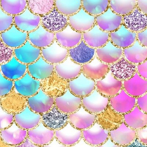 Mermaid scales bokeh glitter