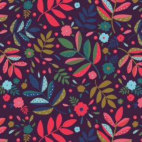 Blatt Blume Federn 02