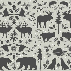 Wilderness Animal Pattern Light