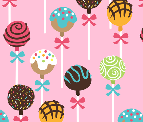 Sweet Cake Pops fabric by heatherhightdesign on Spoonflower - custom fabric