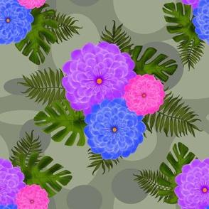 tropicalfloralgreen