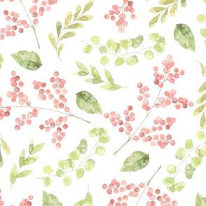 Green and Pink Botanical