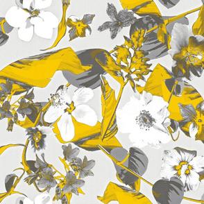tropical grey n yellow