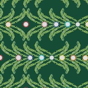 boho mosaic greenery