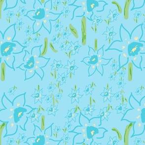 Osterglockenwiese blau