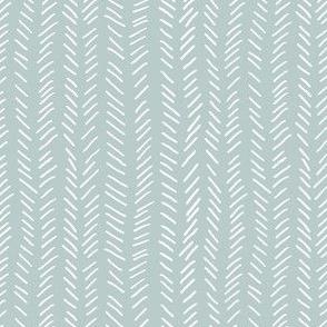 Hand drawn herringbone blue gray