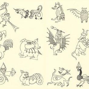 medieval monsters (horizontal)