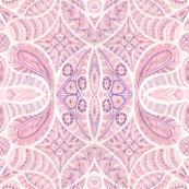 pink paisley mirror