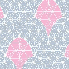 Geometric Email with Chicks blue