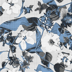tropical graphic blue