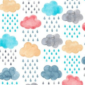 Watercolour Rain Clouds