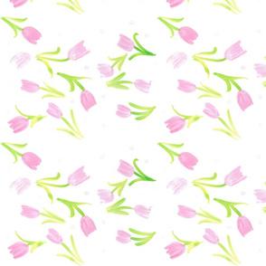 dancing tulips watercolor
