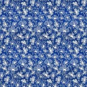White Henna Drum on royal blue