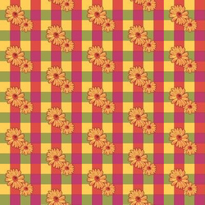 Double Daisies On Blocks