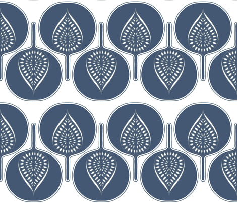 tree hearts blue fabric by holli_zollinger on Spoonflower - custom fabric