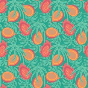 Tropical Exotic Fruit Lilikoi Dragonfruit Palms