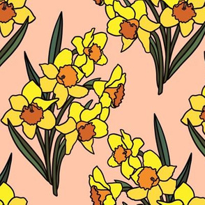 Daffodils on blush (small)