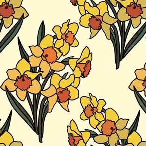 Daffodils on cream (small)