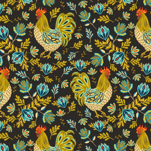 French Rooster- Black