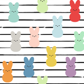 "8"" Colorful Peeps // Black Stripes"