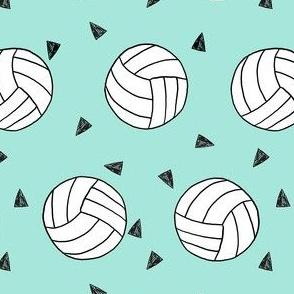 volleyball fabric - sports fabric, beach volleyball, volleyballs, sport, sports fabric - mint